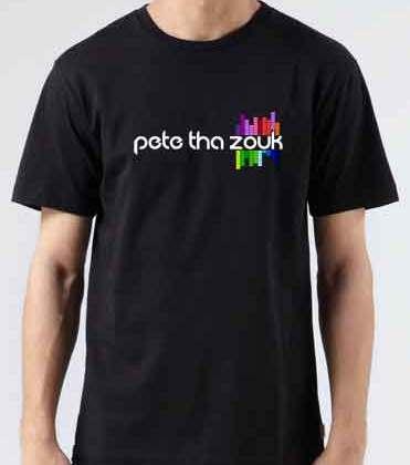 Pete Tha Zouk Logo T-Shirt Crew Neck Short Sleeve Men Women Tee DJ Merchandise Ardamus.com