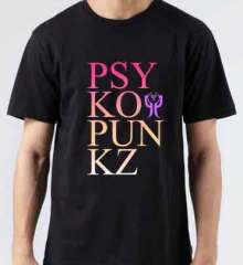 Psyko Punkz T-Shirt Crew Neck Short Sleeve Men Women Tee DJ Merchandise Ardamus.com