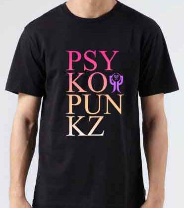 Psyko Punkz T-Shirt Crew Neck Short Sleeve Men Women Tee DJ Merchandise Ardamus.com