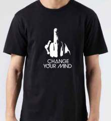 Quentin Mosimann Change Your Mind T-Shirt Crew Neck Short Sleeve Men Women Tee DJ Merchandise Ardamus.com