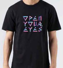 Steve Angello Open Your Eyes T-Shirt Crew Neck Short Sleeve Men Women Tee DJ Merchandise Ardamus.com