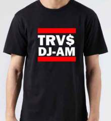 TRVS DJ AM T-Shirt Crew Neck Short Sleeve Men Women Tee DJ Merchandise Ardamus.com