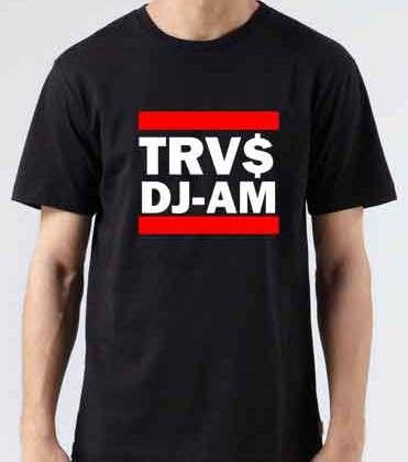 TRVS DJ AM T-Shirt Crew Neck Short Sleeve Men Women Tee DJ Merchandise Ardamus.com