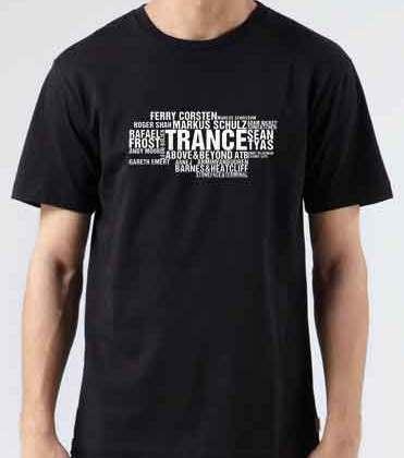 Top DJ Trance T-Shirt Crew Neck Short Sleeve Men Women Tee DJ Merchandise Ardamus.com