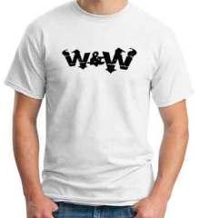 W&W Logo T-Shirt Crew Neck Short Sleeve Men Women Tee DJ Merchandise Ardamus.com