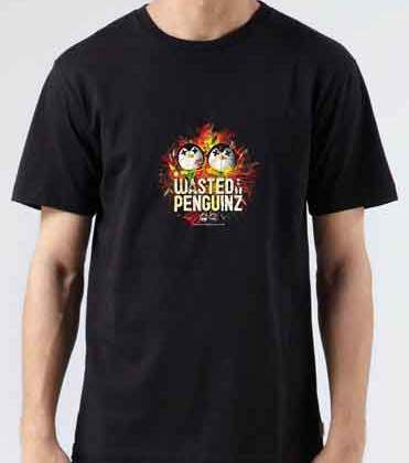 Wasted Penguinz T-Shirt Crew Neck Short Sleeve Men Women Tee DJ Merchandise Ardamus.com