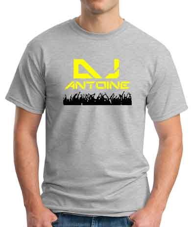 Antoine T-Shirt Crew Neck Short Sleeve Men Women Tee DJ Merchandise Ardamus.com