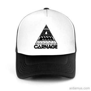 Carnage Logo Trucker Hat Baseball Cap DJ by Ardamus.com Merchandise