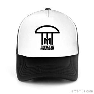 Infected Mushroom Logo Trucker Hat Baseball Cap DJ by Ardamus.com Merchandise