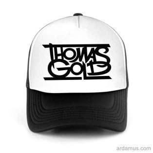 Thomas Gold Trucker Hat Baseball Cap DJ by Ardamus.com Merchandise