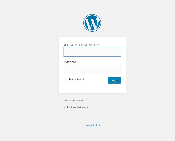cara login di wordpress