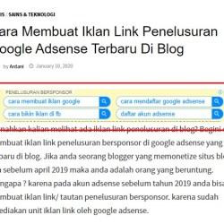 cara membuat iklan link di blog