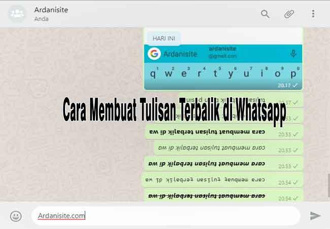 Cara Membuat Tulisan Terbalik Pada Chat Whatsapp (WA)