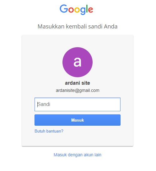 verifikasi password gmail