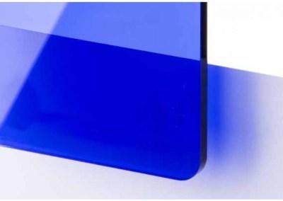 Plexi Bleu marine Transparent