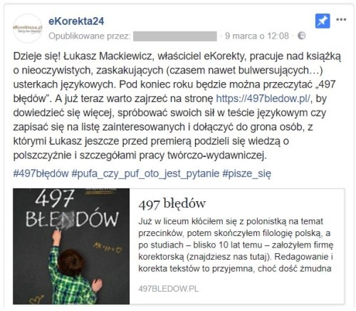 497 błędów post facebook