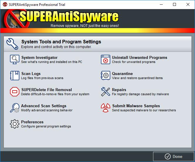 SUPERAntiSpyware full