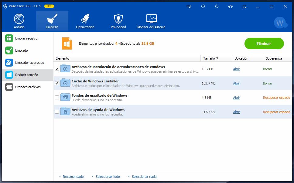 Limpieza de Windows Wise Care 365 PRO