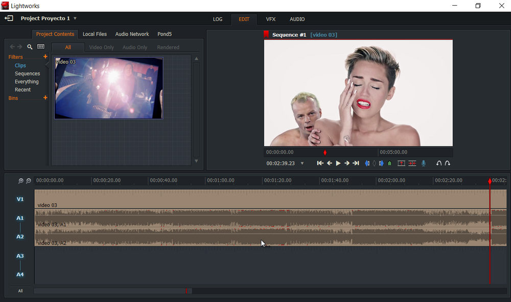 Lightworks editor de video gratis