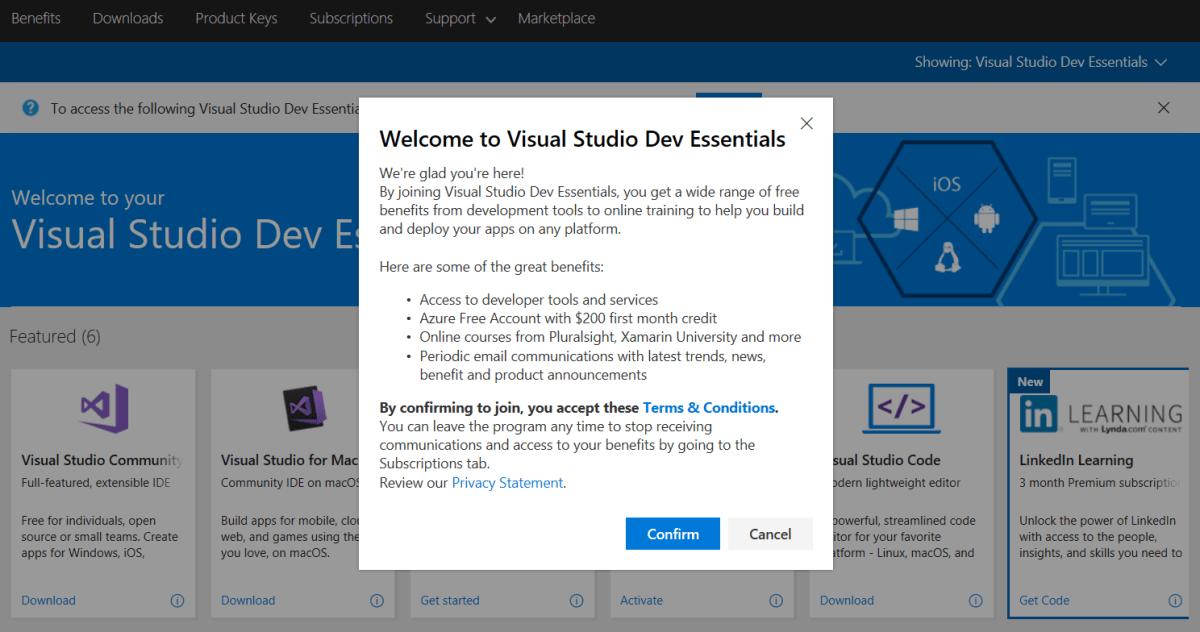 Suscripciones a Visual Studio