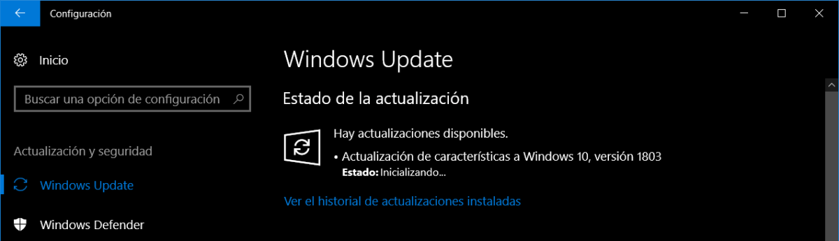 Actualización Windows 10 april 2018
