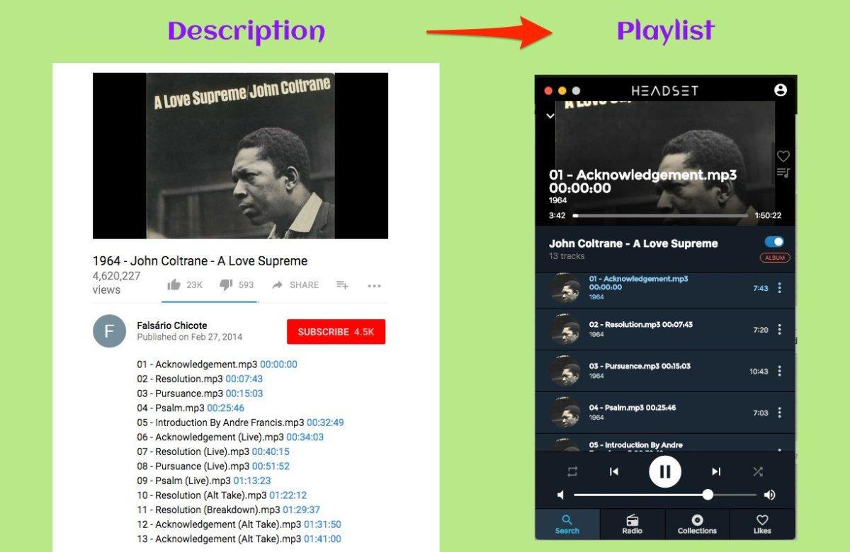 Headset Pro modo álbum