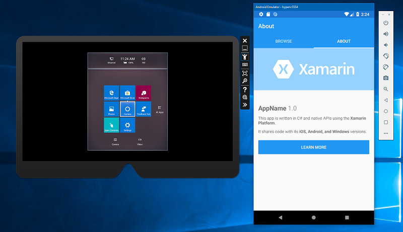 Android Emulator Xamarin