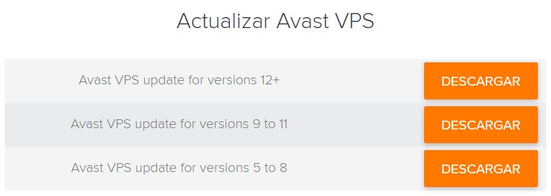 Actualizar Avast offline