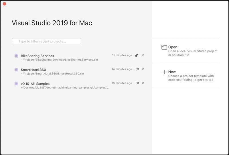 Visual Studio 2019 para Mac