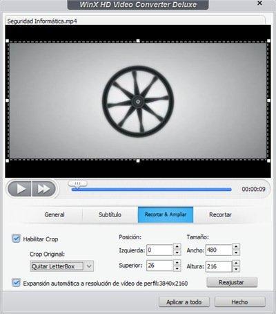 WinX HD Video Converter Deluxe Editar videos 4K