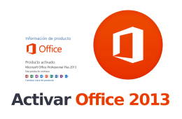 Activar Office 2013