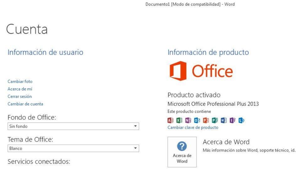 Office 2013 profesional Plus activado