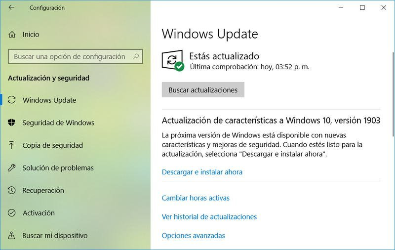 Actualizar a Windows 10 May 2019
