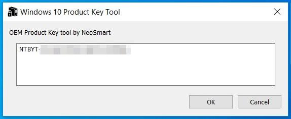 Windows OEM Product Key Tool