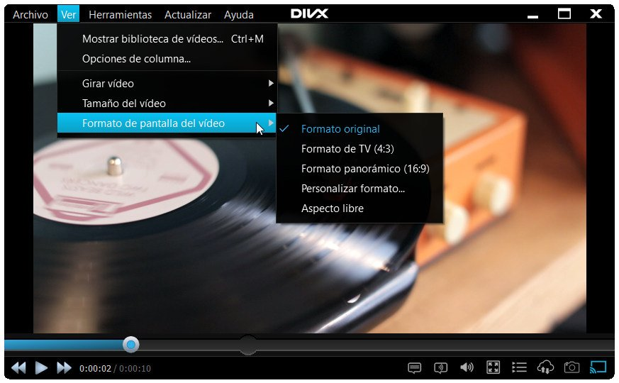 Reproductor DivX Player