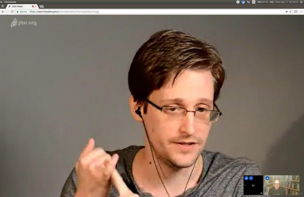Edward Snowden videoconferencia Jitsi Meet