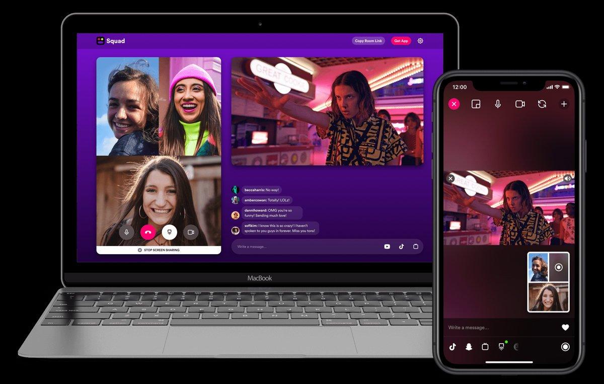 Squap app para compartir pantalla