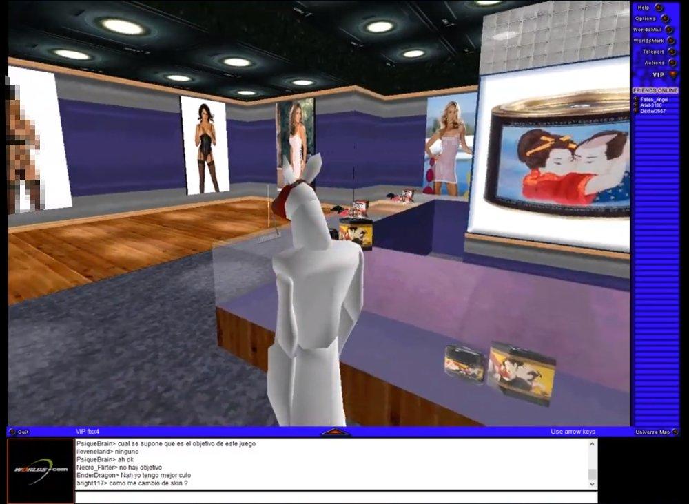 Mundos virtuales ocultos en Worlds.com