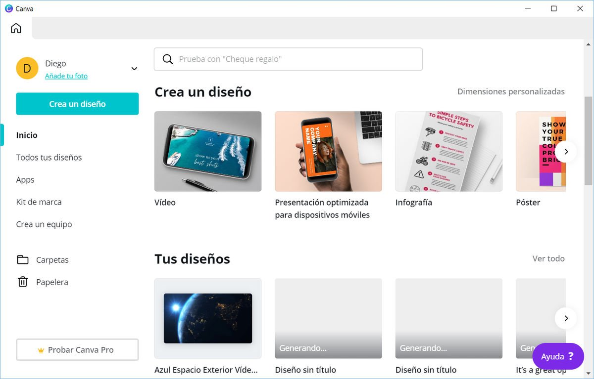 Canva para Windows y macOS