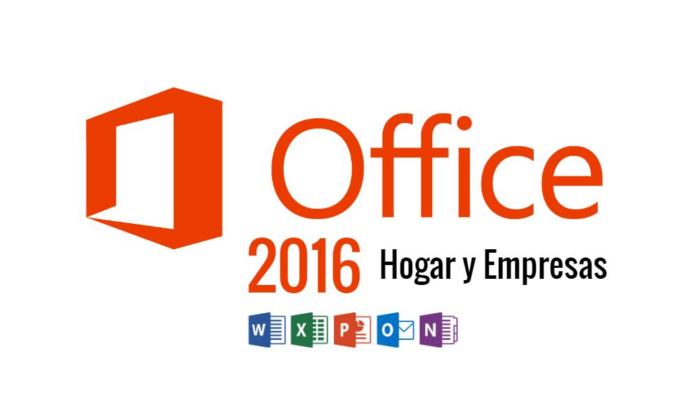 Microsoft Office 2016 Hogar y Empresas ISO