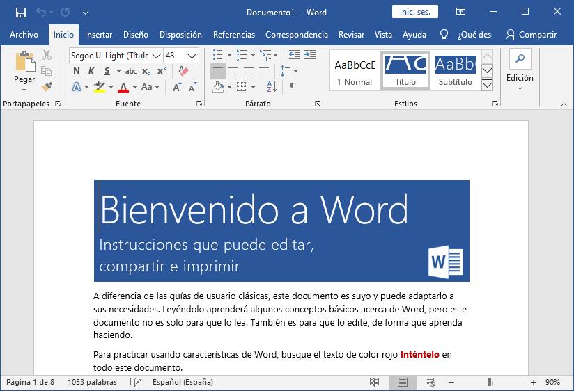 Nuevo documento Word