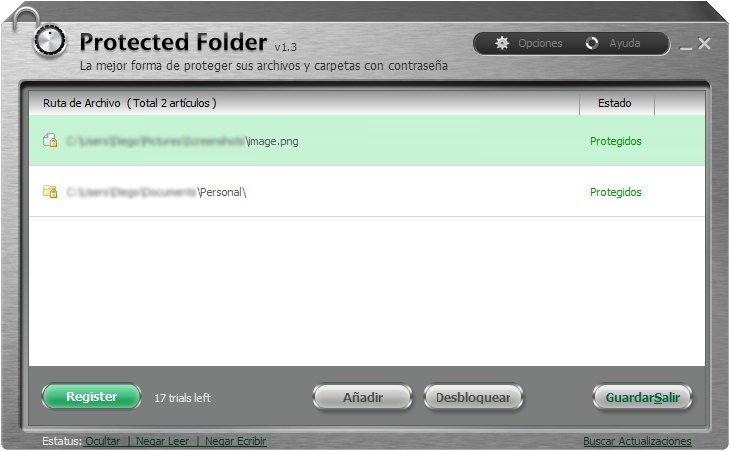 Proteger archivos con contraseña