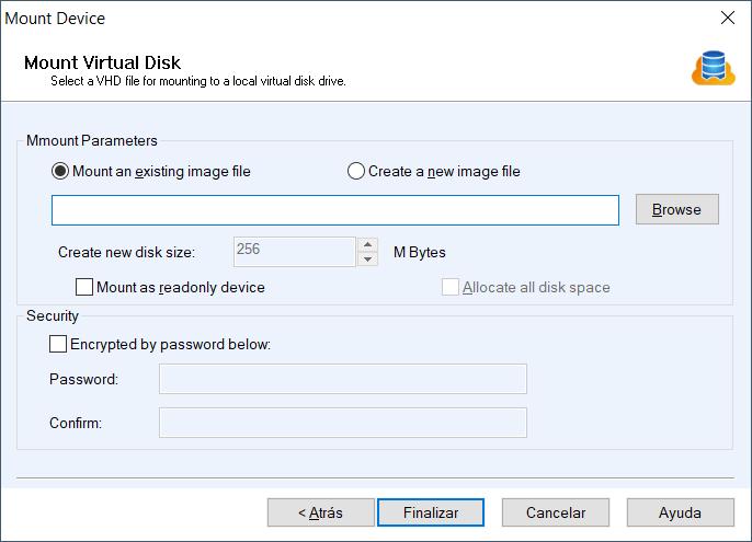 Montar disco duro virtual VHD