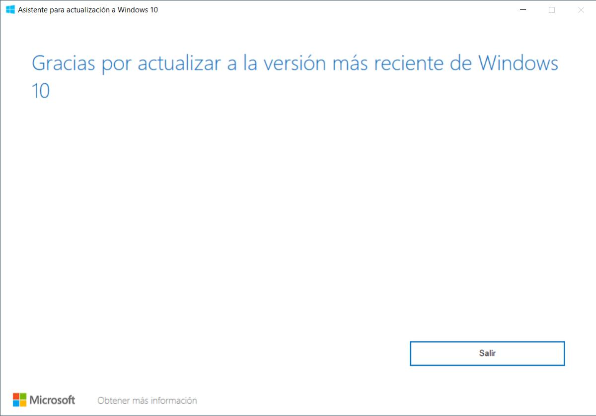 Asistente para actualización a Windows 10