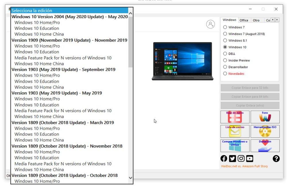 Descargar Windows 10 ISO