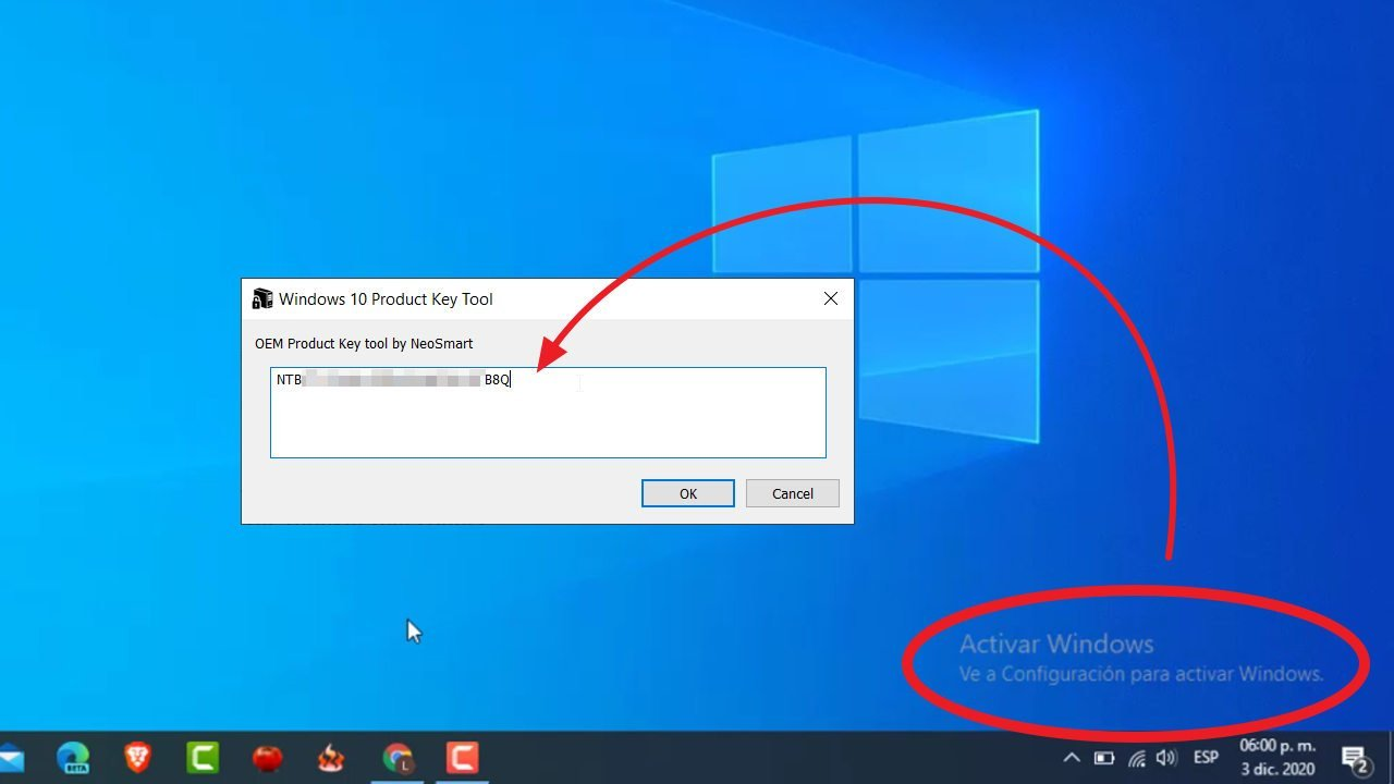 recuperar licencia windows 10 bios uefi