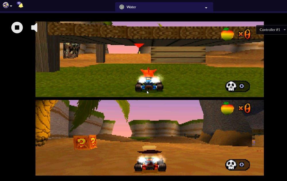 Emulador PS1 Crash Battle multiplayer