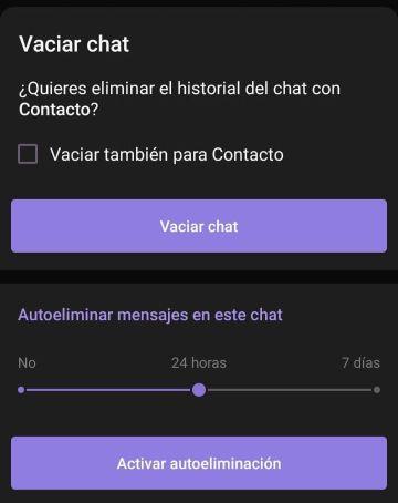 Autoeliminación de mensajes Telegram