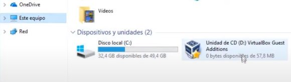 Instalar Guest Additions en Windows 10