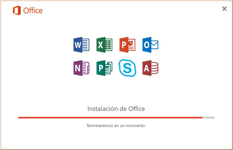 Instalar Office 2019, 2016, 2013